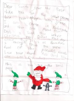 Ava letter to Santa