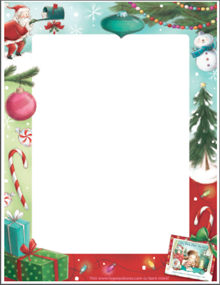 """Write to Santa with stationery from """"My Pen Pal, Santa"""""""